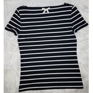 NWT|Kate ♠ Striped Top w/Bow